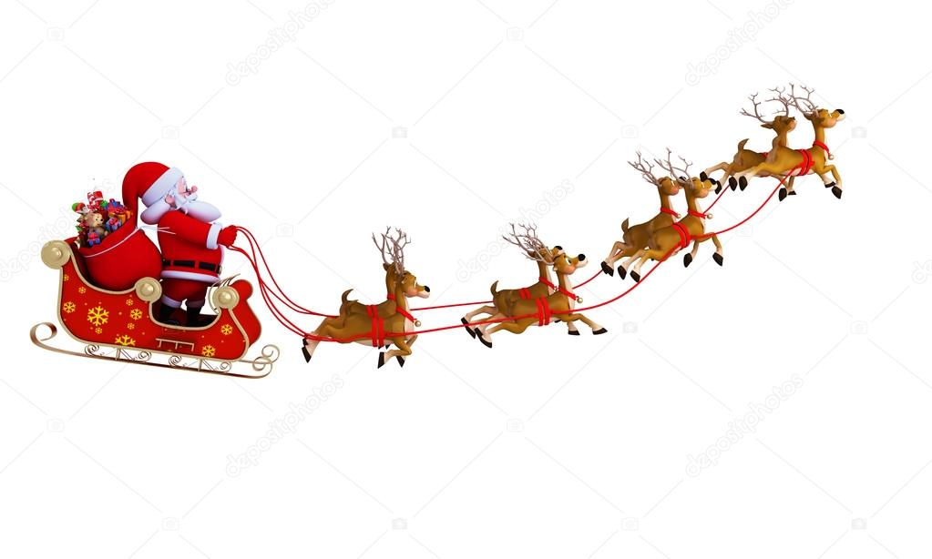 Rooftop with santa and sleigh clipart free banner royalty free download Santa S Sleigh Pictures | Free download best Santa S Sleigh ... banner royalty free download