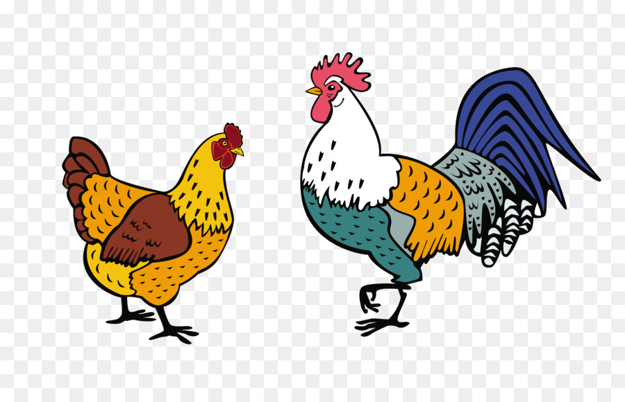 Rooster and hen clipart image free stock Bird Wing png download - 2687*1729 - Free Transparent ... image free stock