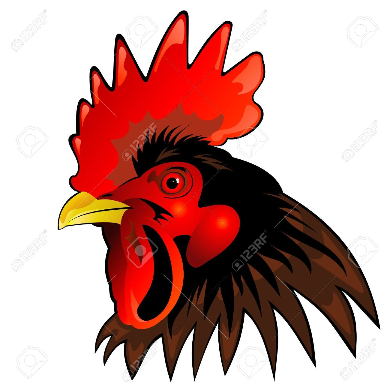 Wild fowl head clipart png freeuse Pin by Susan Palmer on lizbday | Chicken clip art, Rooster ... png freeuse