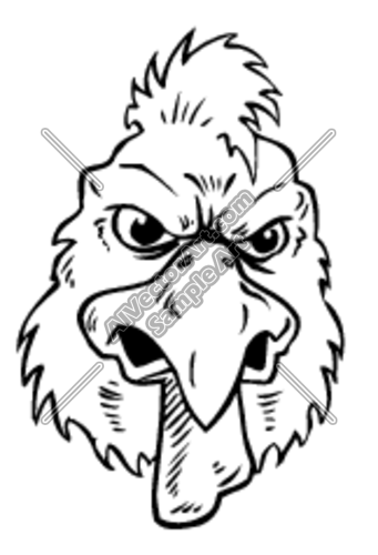 Rooster head clipart svg black and white stock Rooster Head Clipart and Vectorart: Sports Mascots ... svg black and white stock
