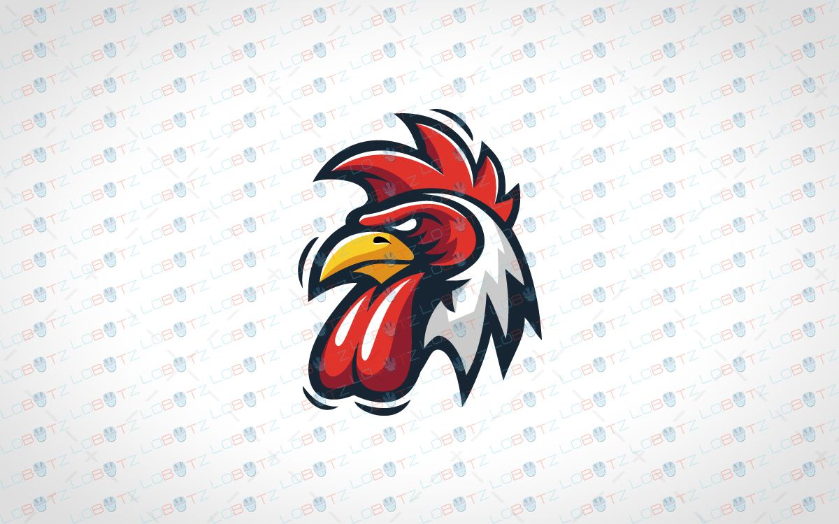 Rooster mascot clipart jpg free stock Rooster Mascot Logo | LOGO | Rooster logo, Esports logo, Rooster jpg free stock