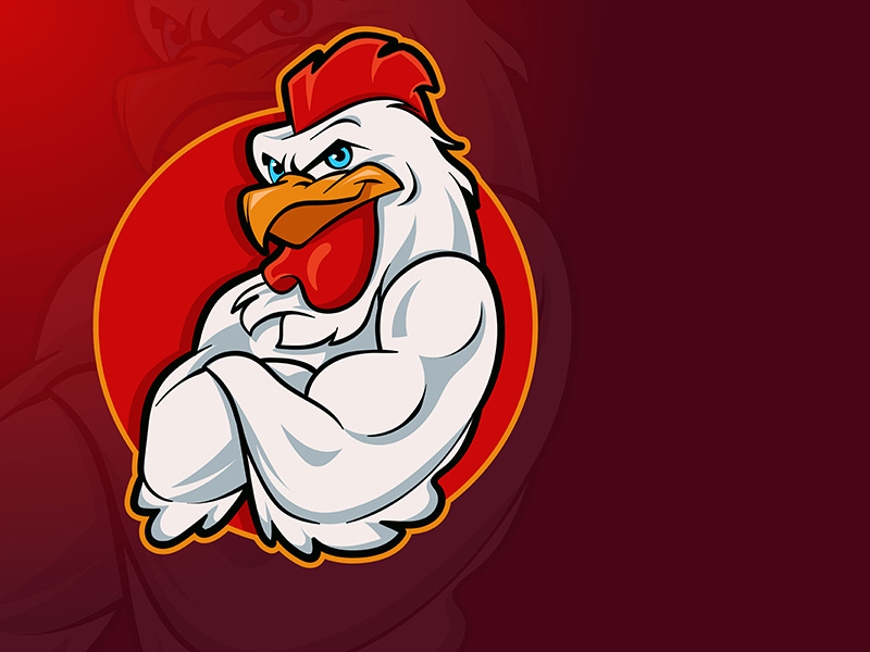 Rooster mascot clipart graphic royalty free library Rooster Mascot Logo by Angga Agustiya on Dribbble graphic royalty free library