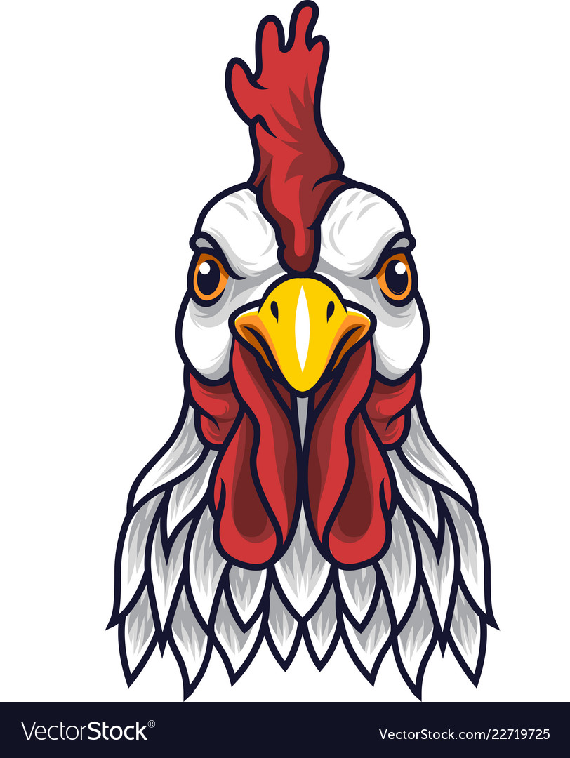 Rooster mascot clipart jpg transparent library Chicken rooster head mascot jpg transparent library