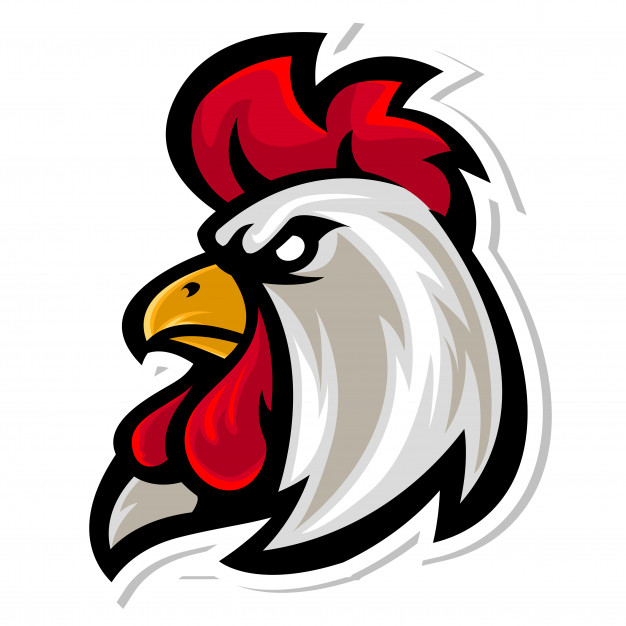 Rooster mascot clipart svg transparent Rooster head mascot logo Vector | Premium Download svg transparent
