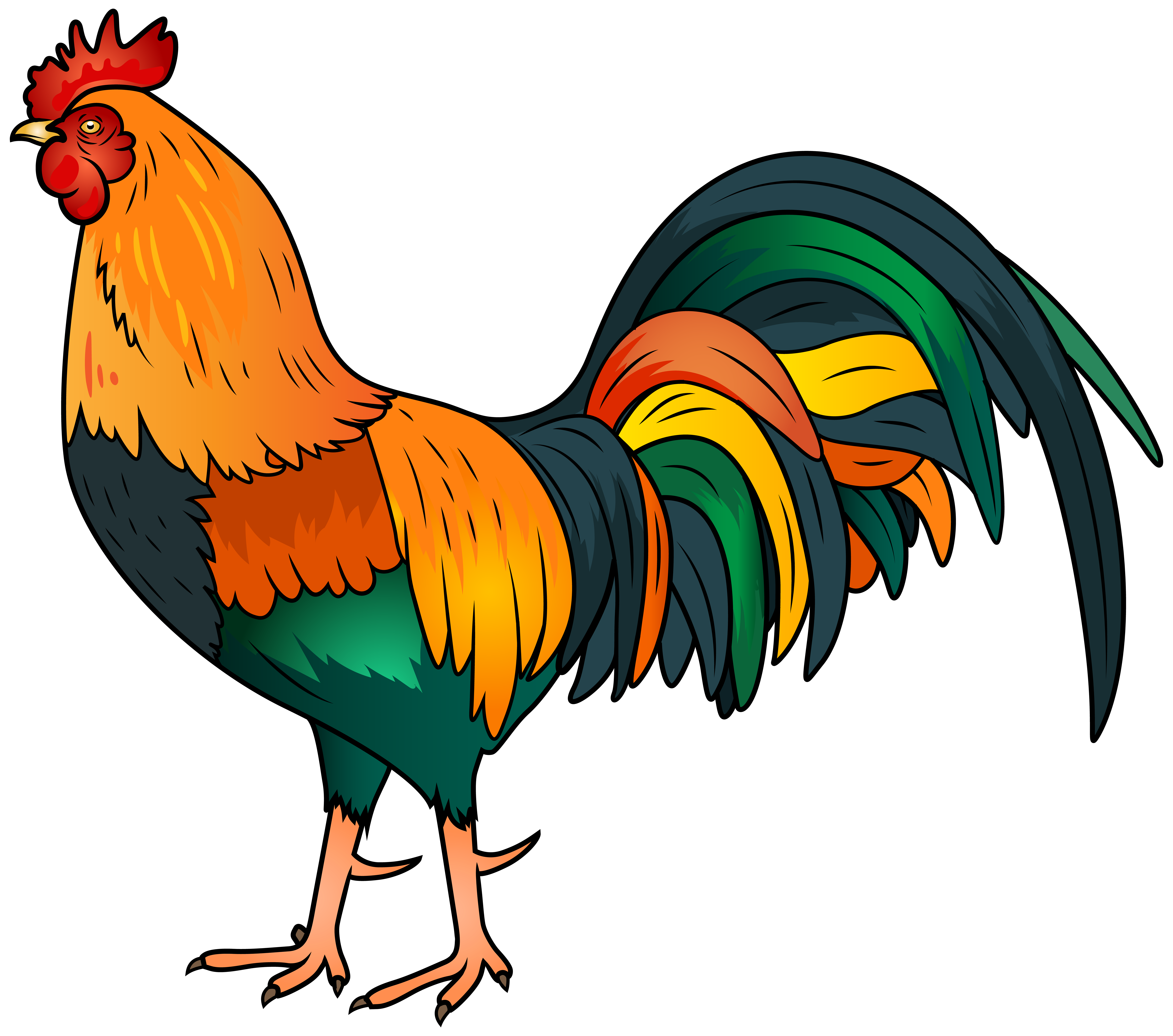 Rooster sun clipart png royalty free library Rooster clip art image - Clipartix   Clip art   Pinterest   Art ... png royalty free library