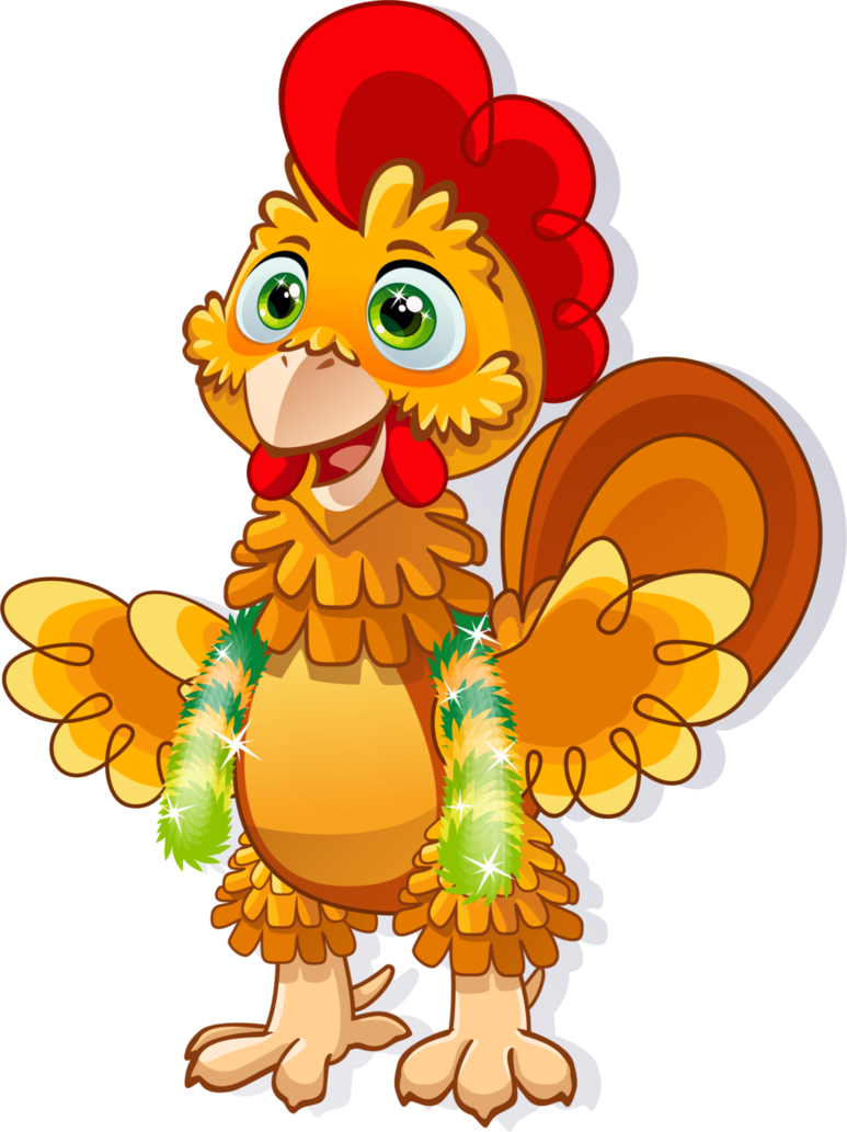 Rooster sun clipart graphic freeuse stock Cartoon Rooster Symbol Of 2017 Year by Youlia007 on DeviantArt graphic freeuse stock