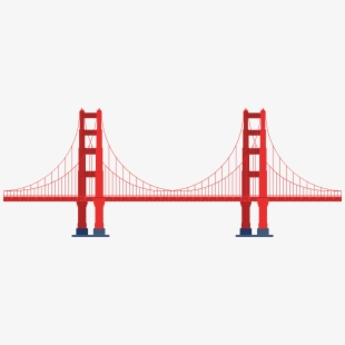 Rope bridge clipart picture library library Rope Bridge Clipart Transparent - Transparent Golden Gate ... picture library library