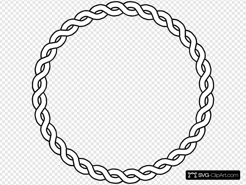 Rope circle clipart clipart library stock Rope Border Circle Clip art, Icon and SVG - SVG Clipart clipart library stock