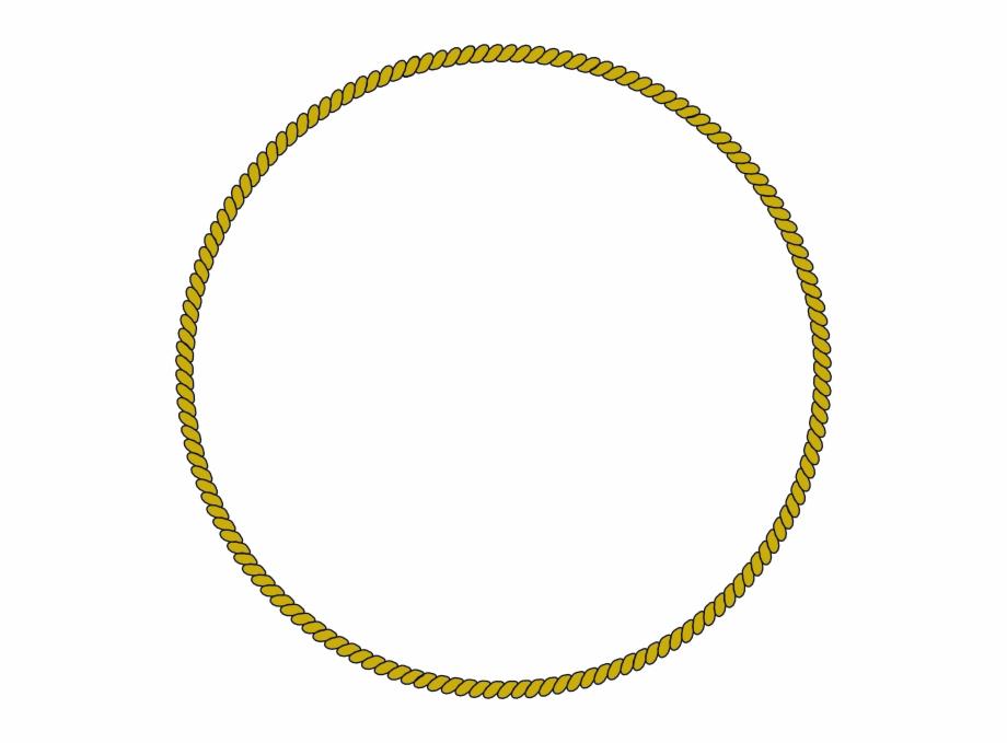 Rope circle clipart vector black and white Rope Circle Border Clip Art - Rope Ring Logo Free PNG Images ... vector black and white