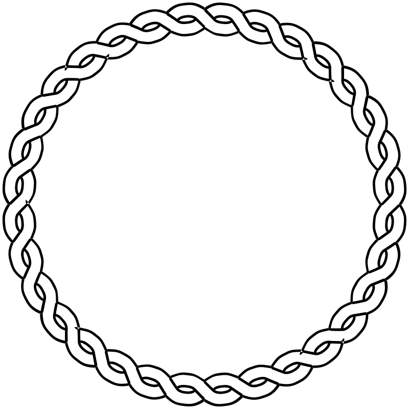 Rope circle clipart transparent stock Free Clipart: Rope border circle | pitr transparent stock