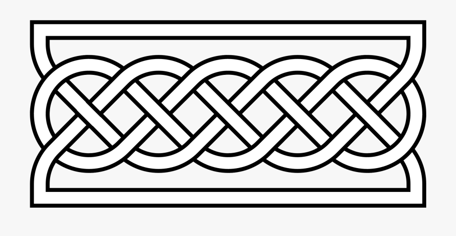 Rope knot decoration clipart jpg black and white library Decorative Rope Knots - Simple Celtic Border Designs ... jpg black and white library