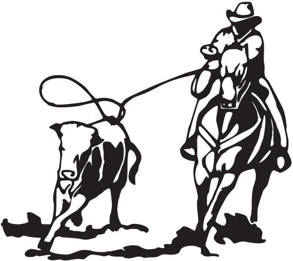 Roper black white clipart picture royalty free Calf roping Cattle Team roping Decal - others png download ... picture royalty free