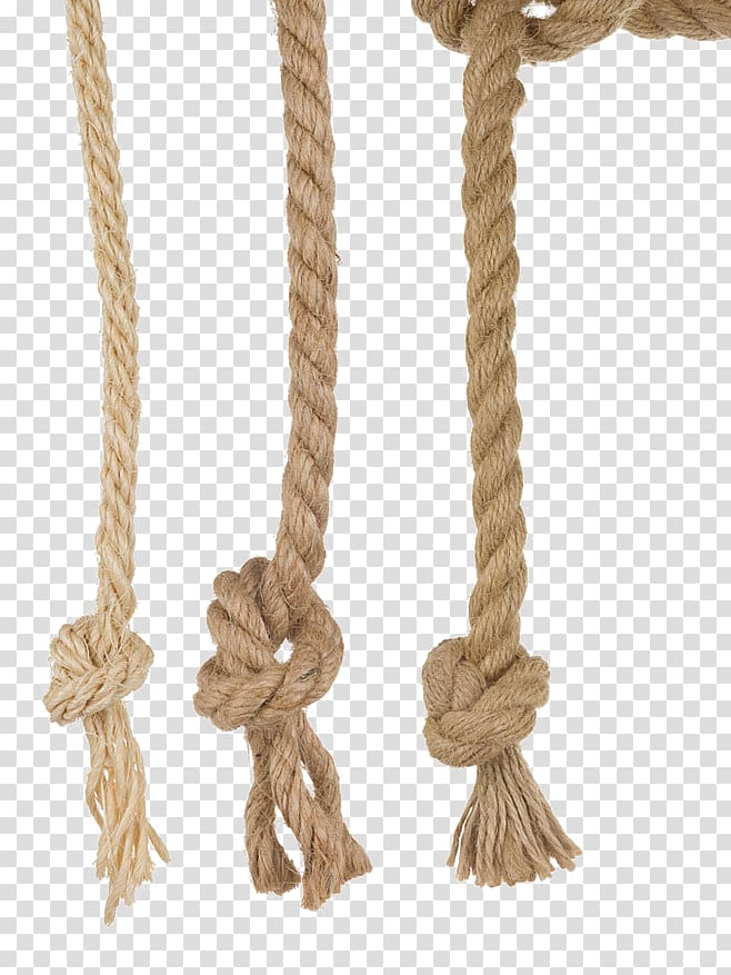 Ropes clipart svg black and white download Rope Reef knot , rope, three brown ropes transparent ... svg black and white download