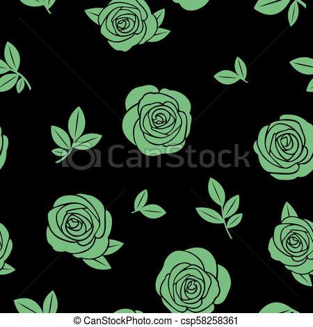 Rosas verdes clipart clipart stock rosas, verde, seamless, textura clipart stock