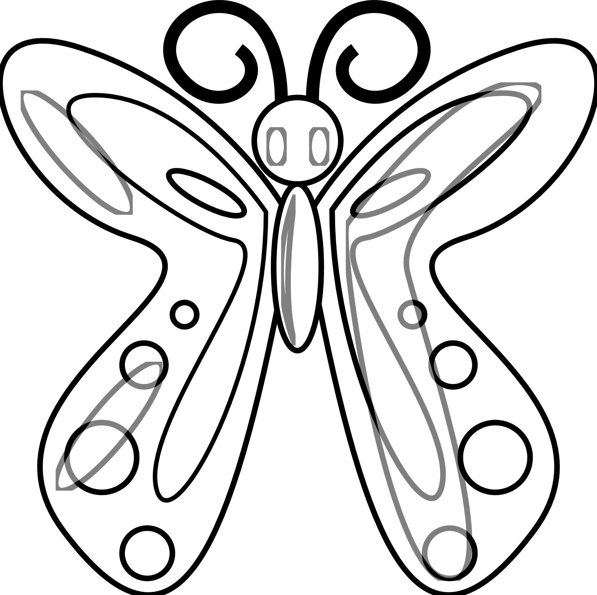 Rose and butterfly clipart black and white clipart transparent stock dongetrabi: Black And White Butterfly Drawing Images clipart transparent stock