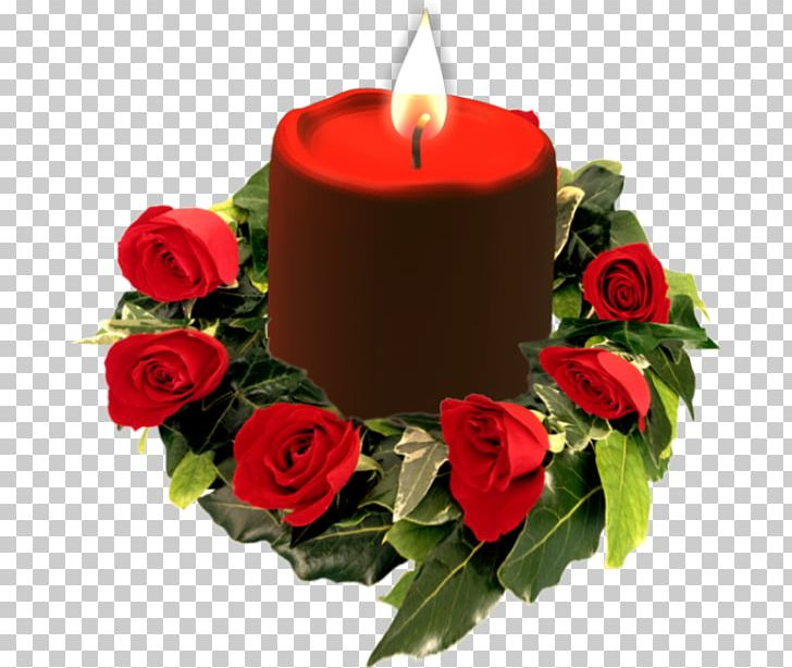 Rose and candle transparent background memorial clipart