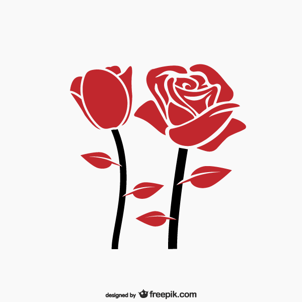Rose art clipart royalty free Red Rose Clip Art royalty free