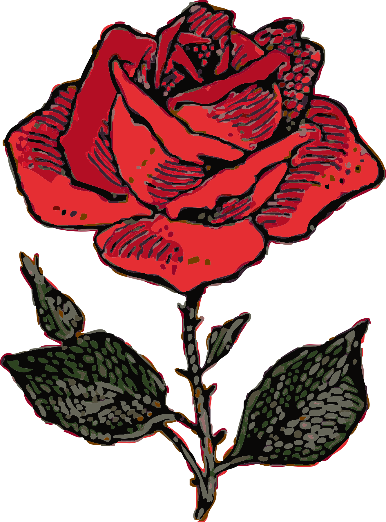 Rose art clipart image black and white download Rose clip art free clipart images – Gclipart.com image black and white download
