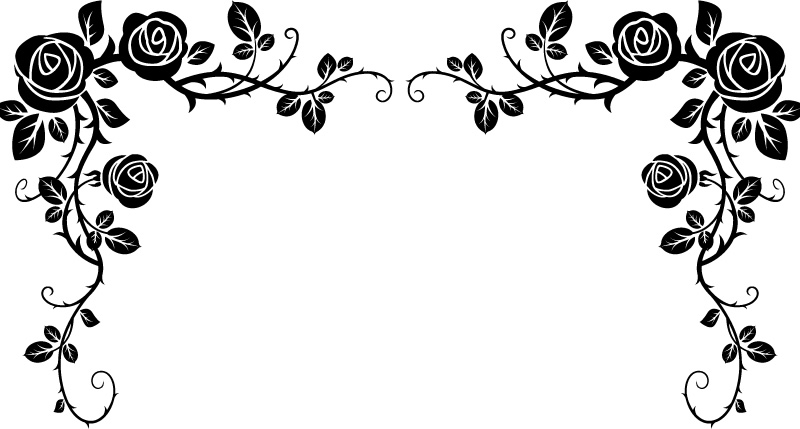 Rose border clipart black and white clip art royalty free download Free Black And White Rose Border, Download Free Clip Art ... clip art royalty free download