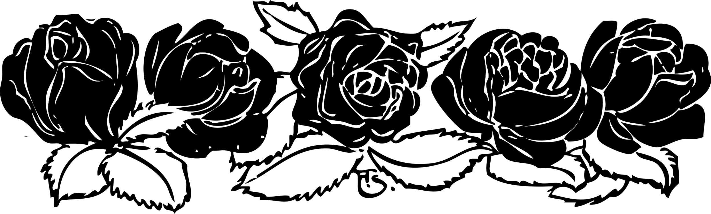 Rose border clipart black and white banner library stock HD Black Rose White Download - Rose Clip Art Border , Free ... banner library stock