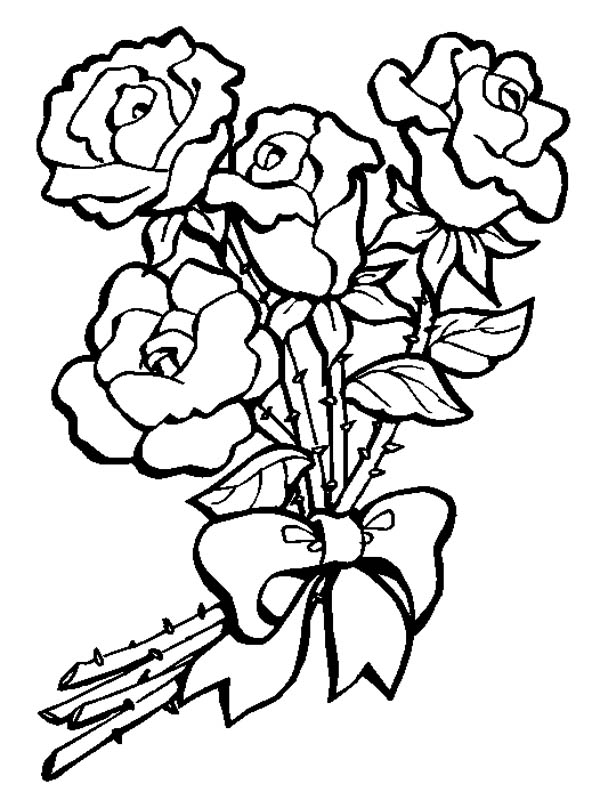 Rose bouquet clipart black and white clipart black and white stock Free Pictures Of Bouquet, Download Free Clip Art, Free Clip ... clipart black and white stock