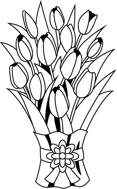 Rose bouquet clipart black and white banner black and white stock Free Bouquet Cliparts, Download Free Clip Art, Free Clip Art ... banner black and white stock