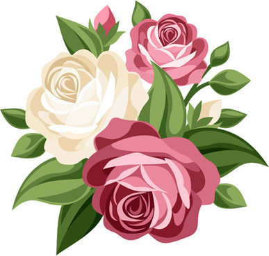 Rose bunch clipart