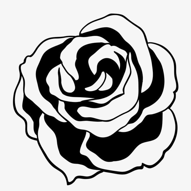 Rose clipart png black and white picture library library Rose Clipart Black Line PNG Image And For Free Download ... picture library library