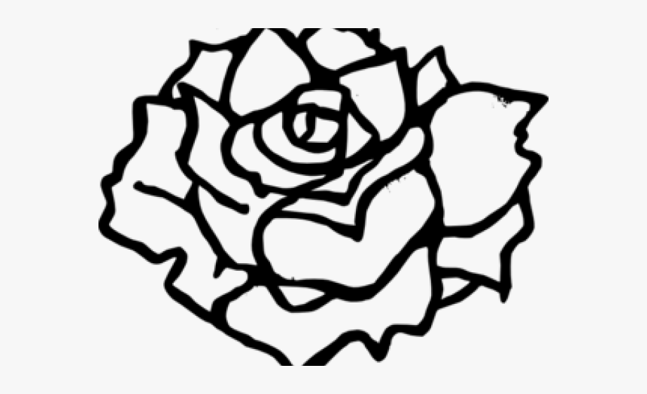 Rose clipart png black and white banner royalty free download Simple Rose Clip Art Black And White #1311774 - Free ... banner royalty free download