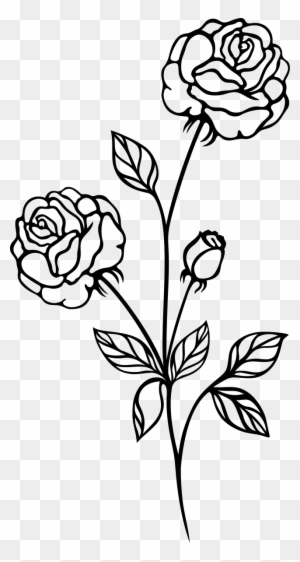 Rose clipart png black and white picture library library Download Free png Rose Plant Png Black And White - DLPNG.com picture library library