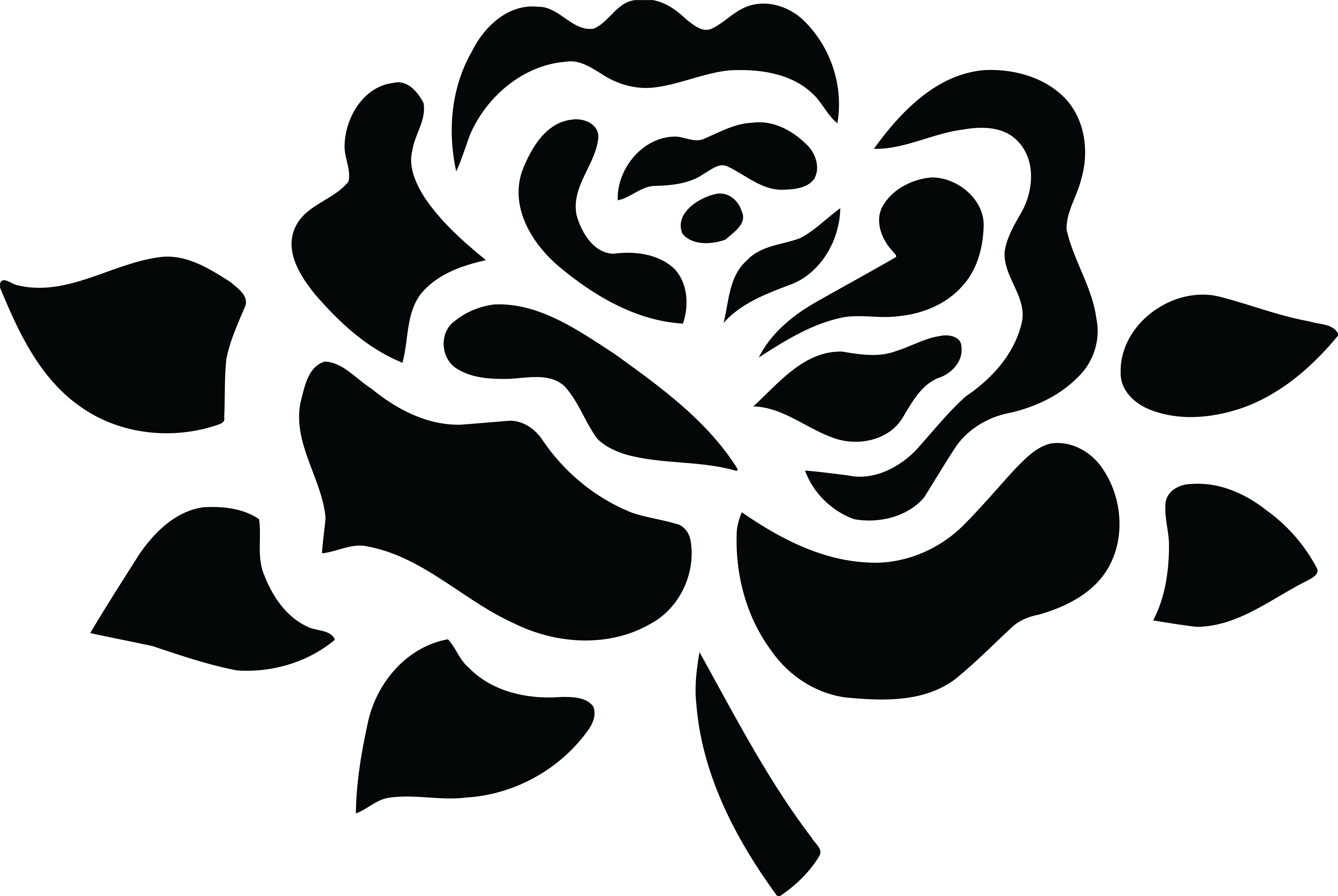 Rose clipart png black and white clip library library Rose clipart black and white png 1 » Clipart Station clip library library