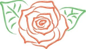 Rose clipart simple