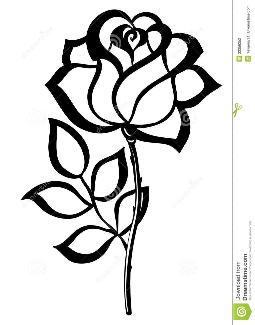 Rose clipart simple clip art library Simple rose clipart 2 » Clipart Portal clip art library