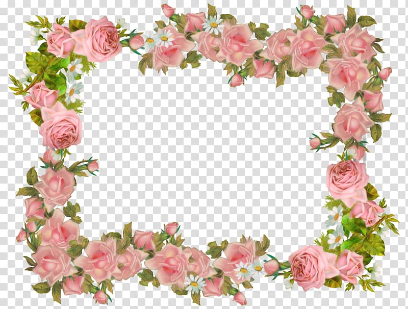 Rose floral border clipart image royalty free library Pink flowers, Paper Borders and Frames Vintage clothing ... image royalty free library