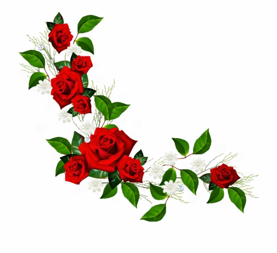 Rose flower border clipart clipart library download Flowers Border Png Clipartsgram Com Pinterest ... clipart library download