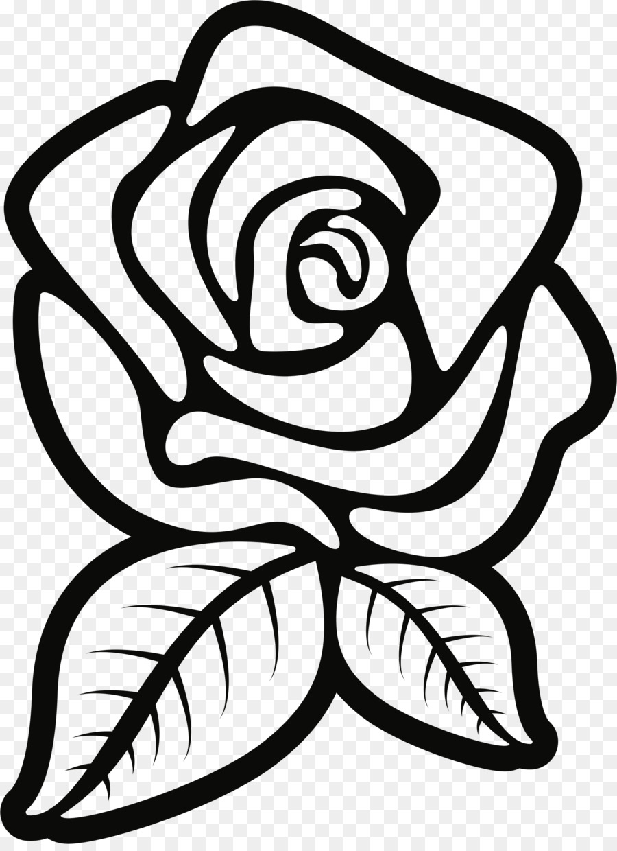 Rose flowers black and white clipart vector freeuse stock Rose Black And White clipart - Rose, Flower, Leaf ... vector freeuse stock