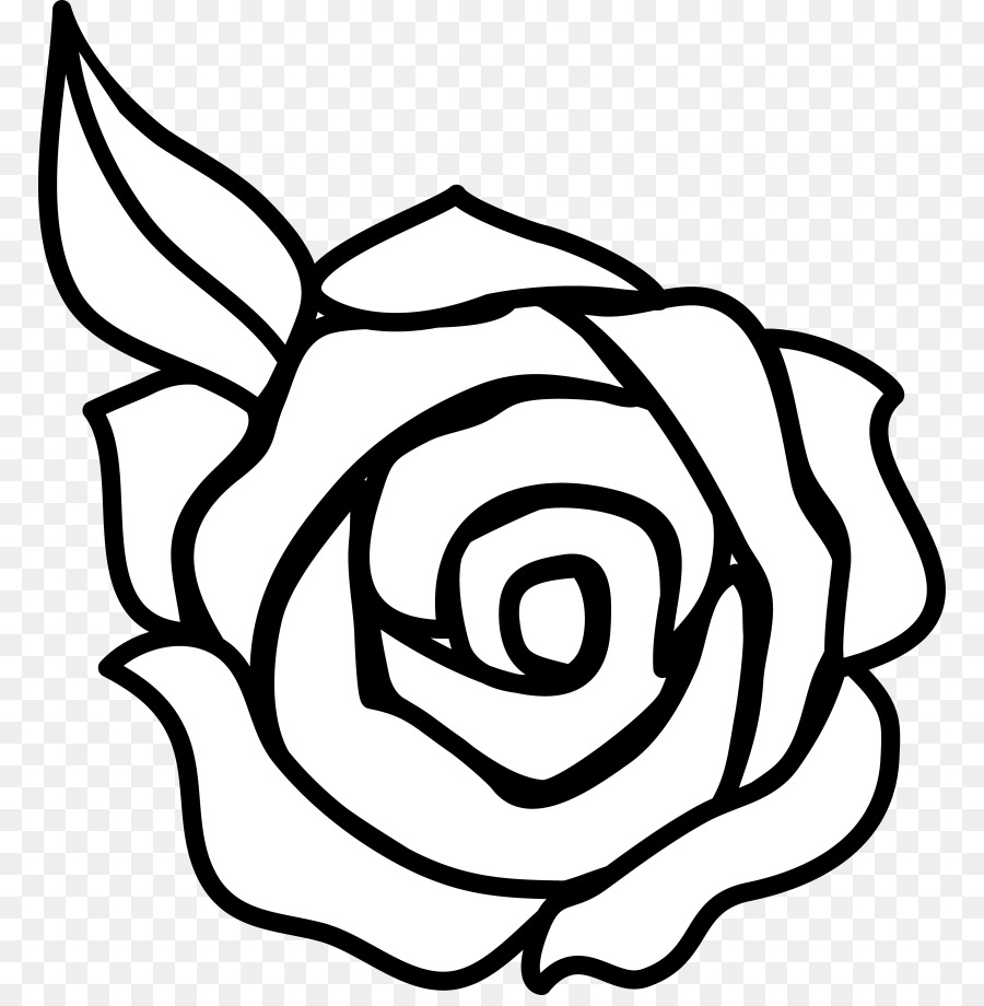 Rose flowers black and white clipart clip black and white library Book Black And White clipart - Rose, Flower, Leaf ... clip black and white library
