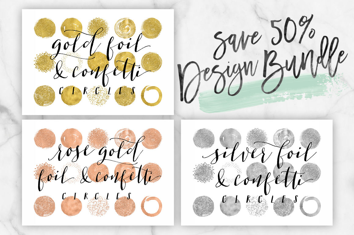 Rose gold foil clipart graphic freeuse download 50% off Silver Foil, Rose Gold Foil & Gold Foil Circle Clip ... graphic freeuse download