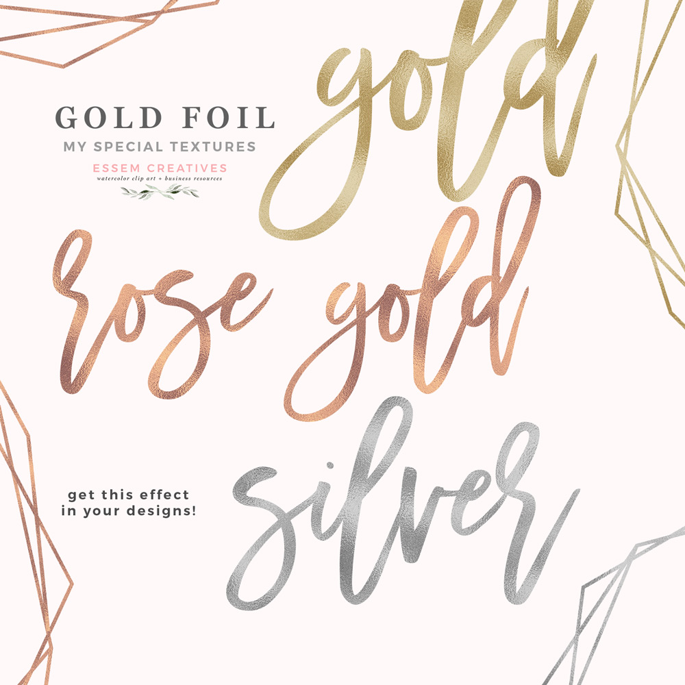 Rose gold foil clipart svg black and white Rose Gold Foil Texture, Gold Foil Digital Paper, Silver Faux Foil for Text  Background svg black and white