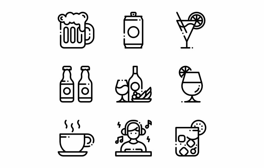 Rose gold social media icons clipart vector transparent download Bar - Hand Drawn Social Media Icons Png - beer bottle clip ... vector transparent download