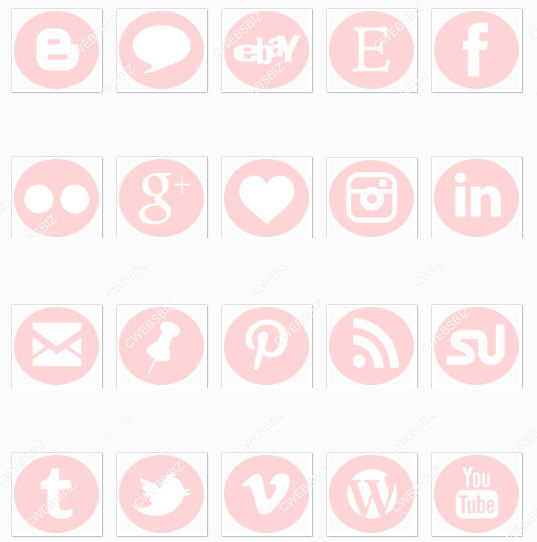 Rose gold social media icons clipart picture black and white Facebook Icon Pink #251942 - Free Icons Library picture black and white