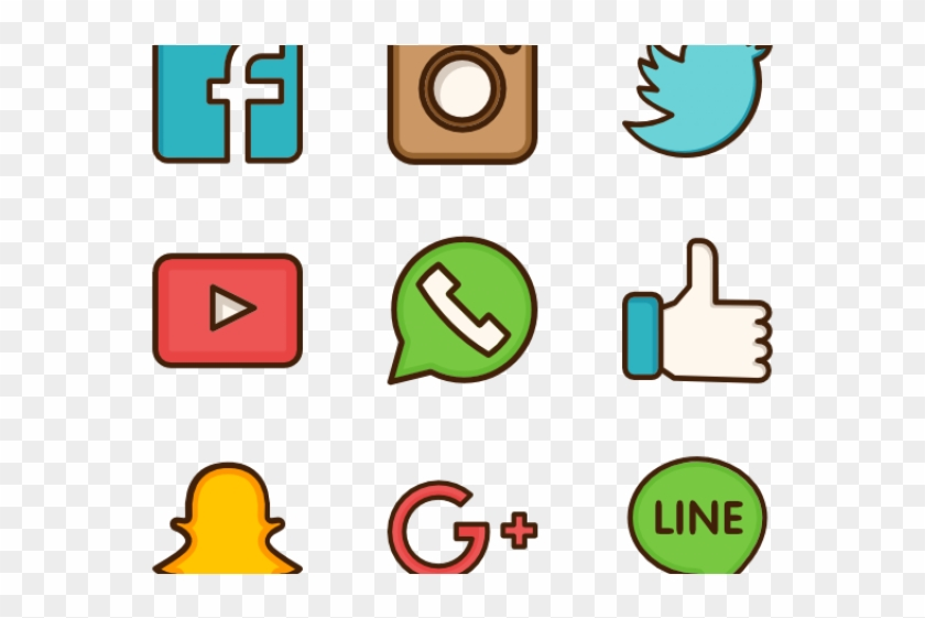 Rose gold social media icons clipart image library stock Social Media Icons Clipart Social Networking - Transparent ... image library stock