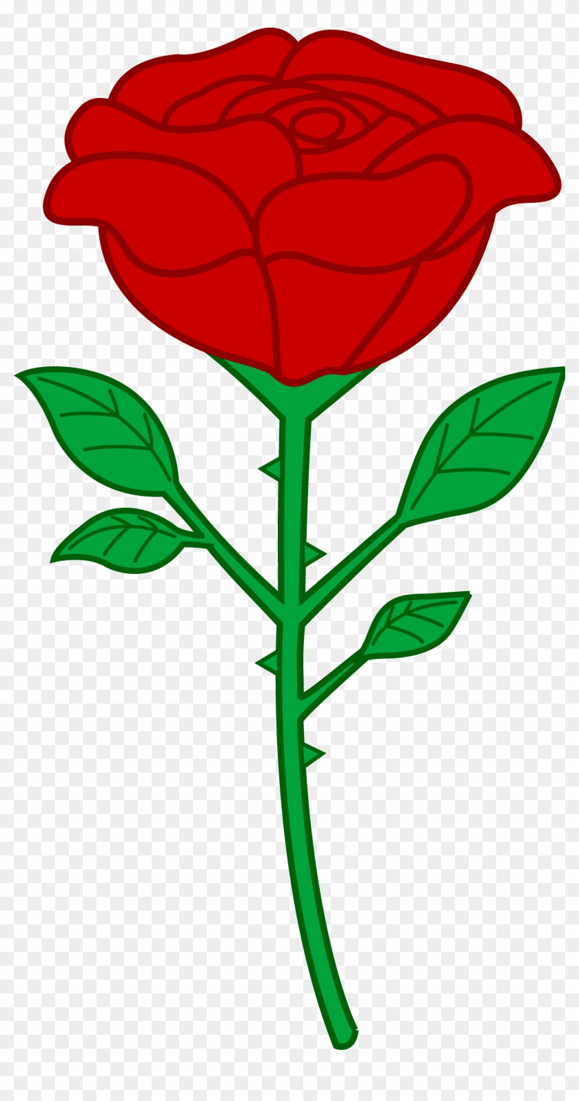Rose hd clipart jpg Red Rose Outline Clipart - Cartoon Rose Transparent ... jpg