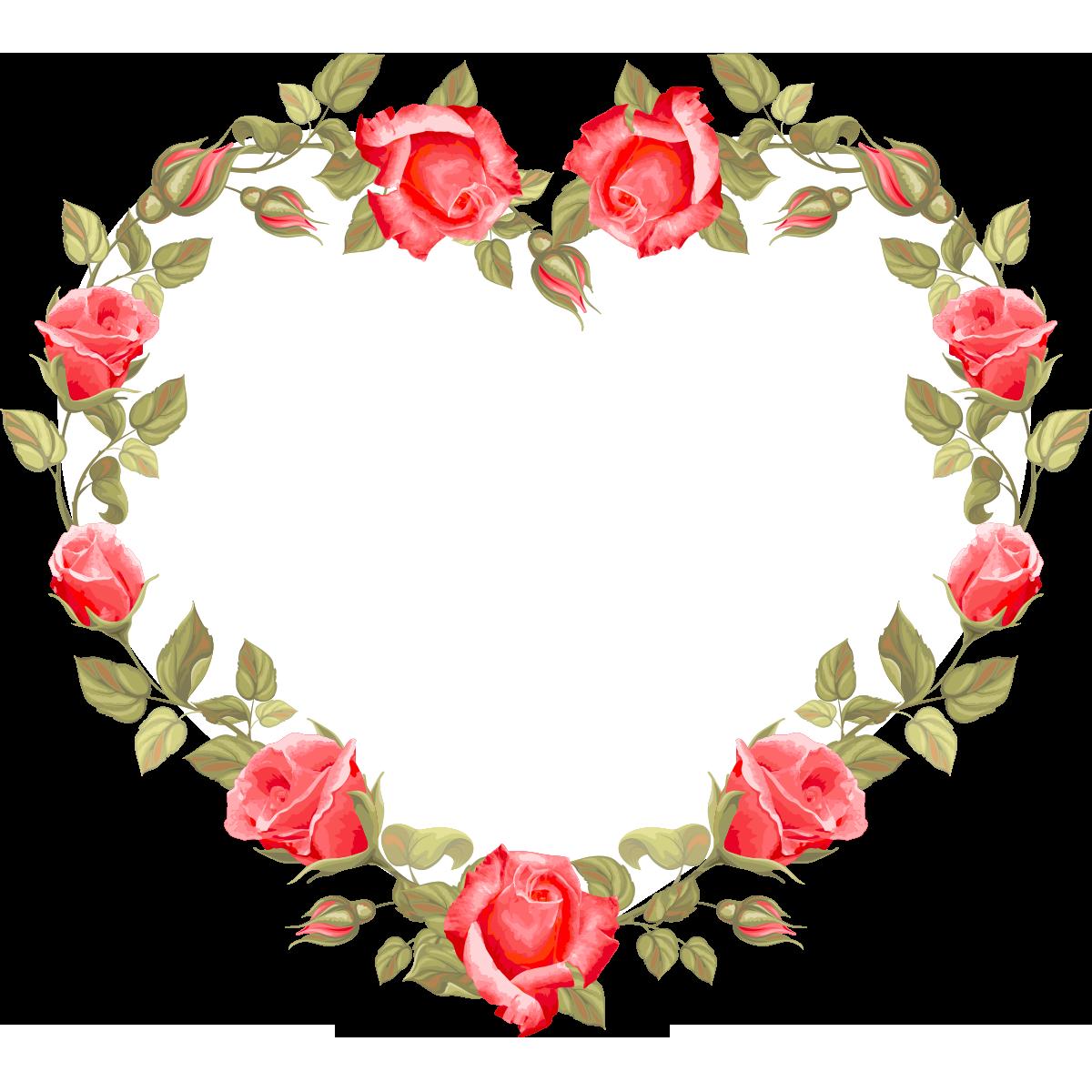 Wedding invitation Flower Heart Clip art - Love roses ring 1200*1200 ... svg free