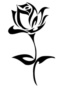 Rose losing petals clipart black and white banner black and white 999+ Flower Clipart Black And White [Free Download] - Cloud ... banner black and white