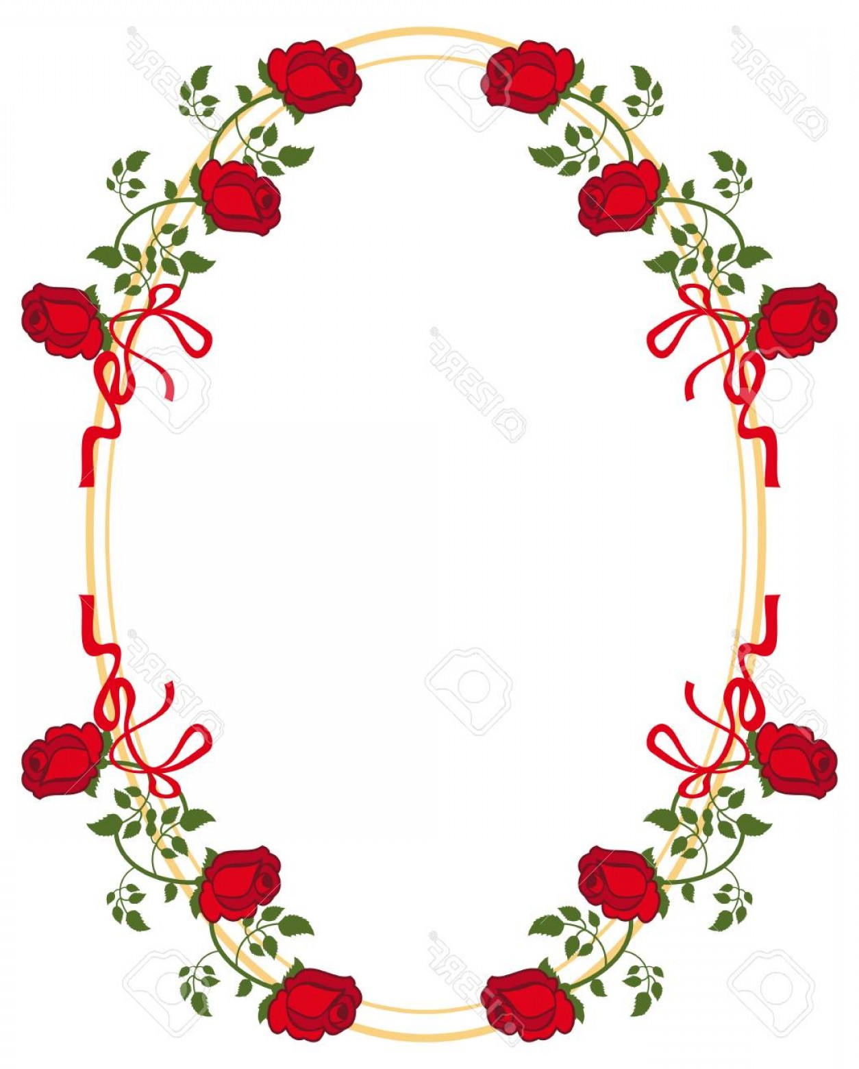 Rose oval frame clipart black and white image free download Photostock Vector Oval Frame With Red Roses Vector Clip Art ... image free download