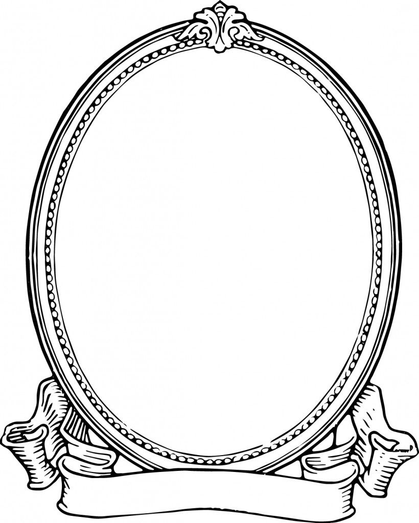 Rose oval frame clipart black and white banner transparent stock Free Clip Art - Vintage Photo Frame | Oh So Nifty Vintage ... banner transparent stock
