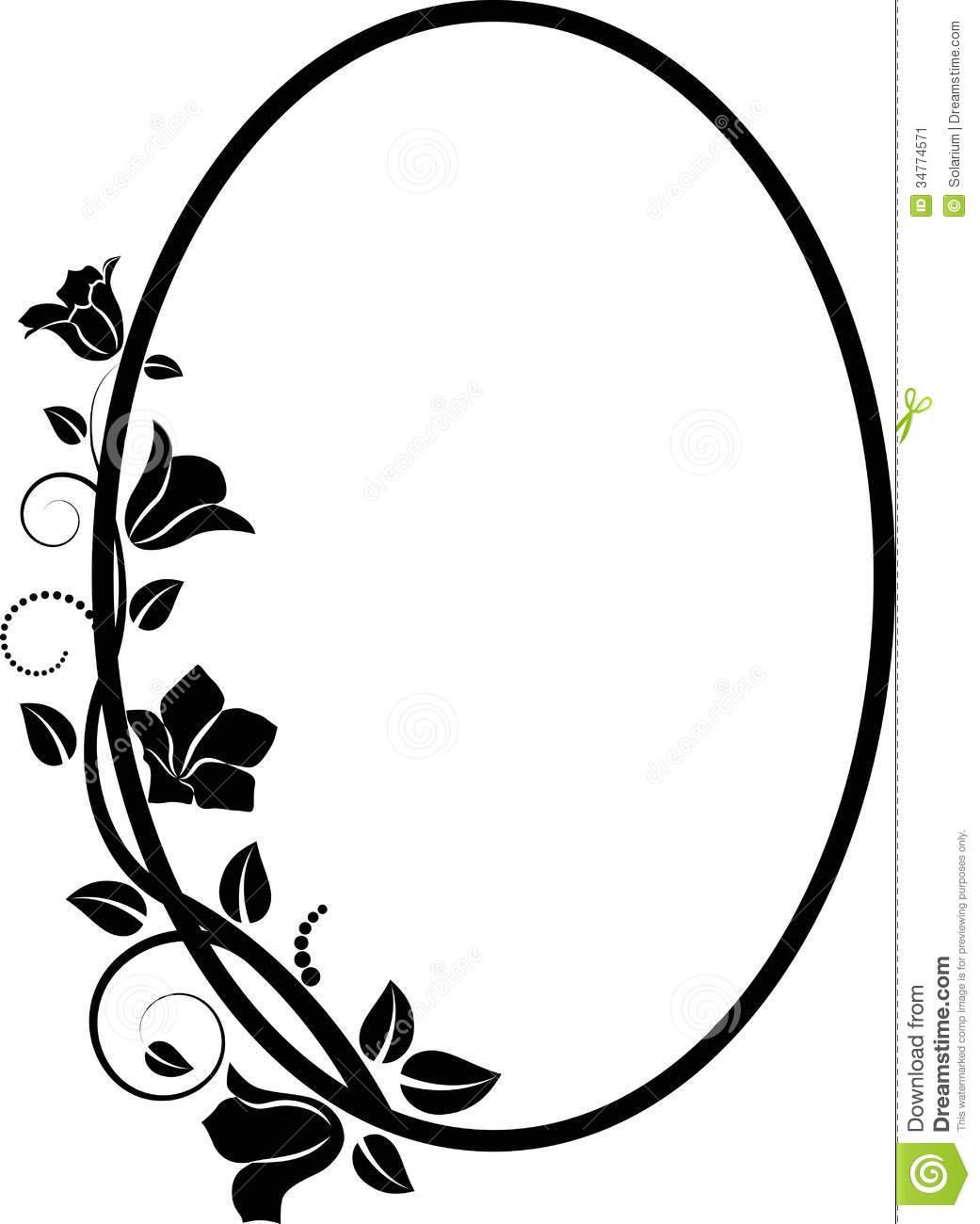 Rose oval frame clipart black and white banner free download Frame Clipart Black And White | Free download best Frame ... banner free download