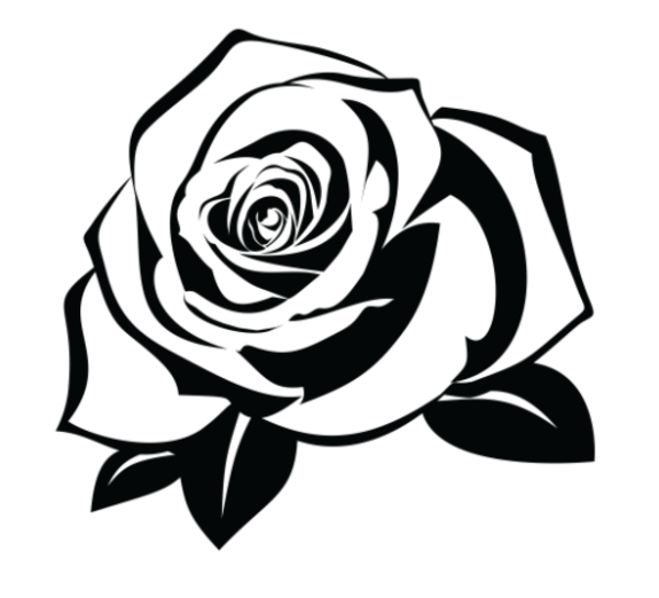 Rose silhouette clipart freeuse Rose Black And White clipart - Silhouette, Illustration ... freeuse