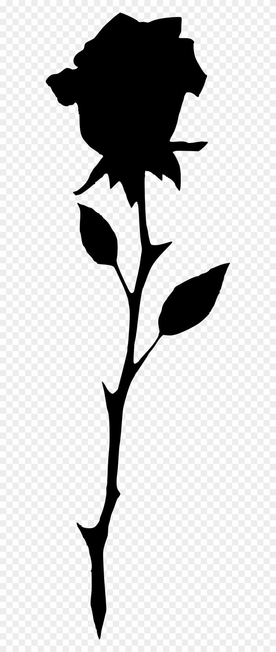 Rose silhouette clipart clipart freeuse download Long Stem Rose Silhouette - Long Rose Silhouette Clipart ... clipart freeuse download